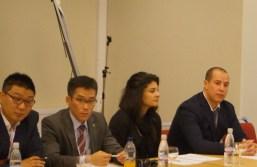 Korean Muaythai Federation and Mr. Tashmatov - Uzbekistan Muaythai Federation -Listening to a presentation