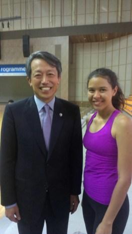 IFMA's Youth Ambassador Kiana Guyon with Kim Won-Soo the Assistant Secretary and Special Advisor to the UN General Secretary