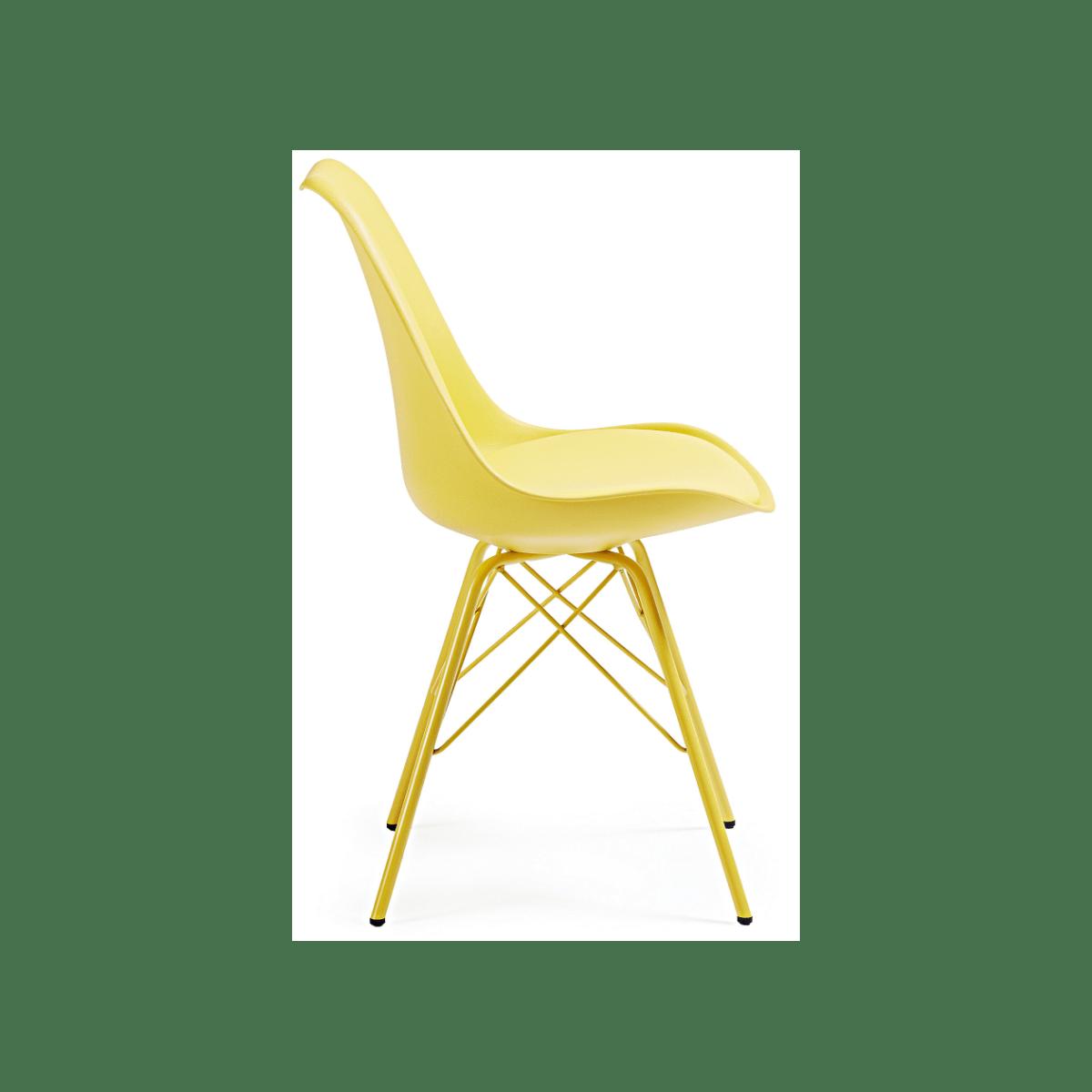 Silla Comedor Lars Estructura de Metal Color Blanco  Mubeko