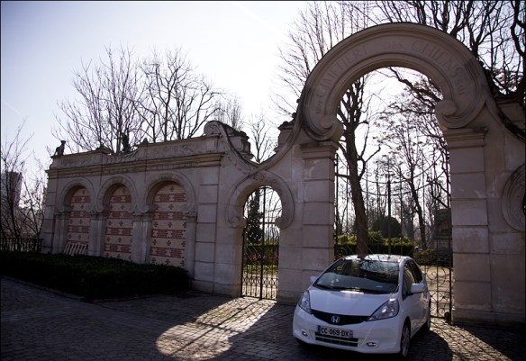 The cemetery gates by Eugène Petit; Steve Sampson