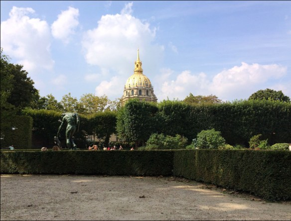 Garden view of the Invalides; pic: Steve Sampson
