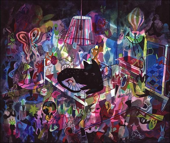 """Brecht Evens' """"Panther"""" at Galerie Martel; © Brecht Evens/Galerie Martel"""