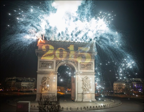 The fireworks' final sentiment; pic: Henri Garat/Mairie de Paris