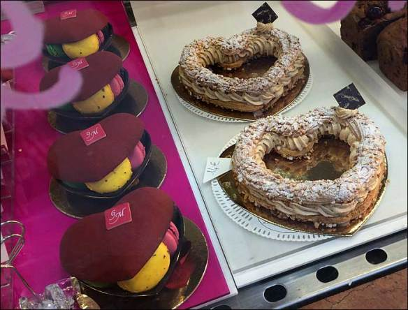 Patisserie classic the Paris-Brest in Valentine form; pic: Cynthia Rose