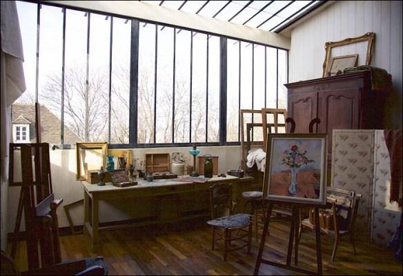 Suzanne Valadon's restored atelier, Musée de Montmartre; pic: Steve Sampson
