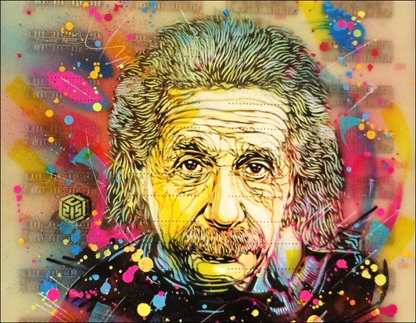 Einstein by C215 © Christian Guémy