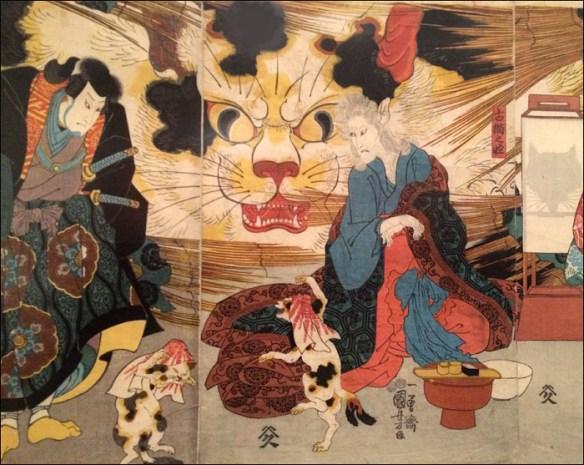 "Detail from ""Story of the Nihon Demon and the Sorcerer Cat"" © Utagawa Kuniyoshi/Petit Palais"