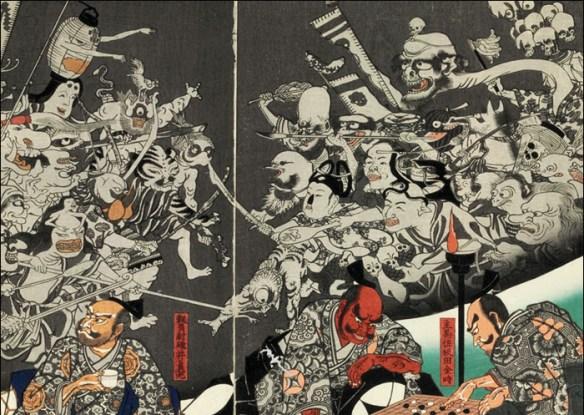 "Detail, ""The Earth Spider Conjures Up Demons"" © Utagawa Kuniyoshi/Petit Palais"