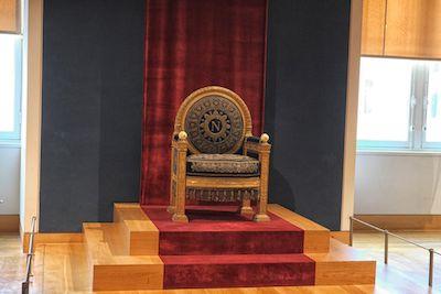 Napolean Bonaparte's Throne when he was emperor