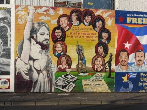 Memorial mural to the Troubles on Falls Road, Belfast