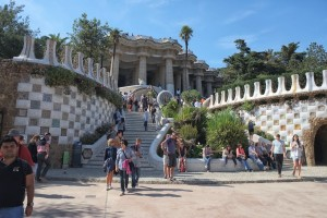 Park Güell, part of double staircase and hypostyle room
