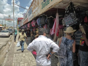 Brenda and Jacques at the town center market in Higuey