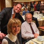 Brian Dunhill with Brenda at the American Club of Brussels for Thanksgiving