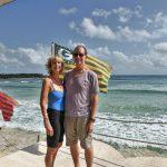 Atlantic Ocean from beach on east side of Cozumel Island