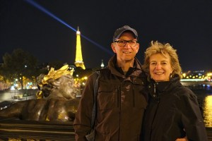 Hugh Nelson and Brenda Prowse on Pont Alexandre III