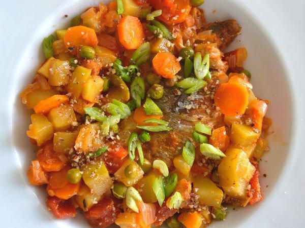 Chicharro en salsa coreana de tomate