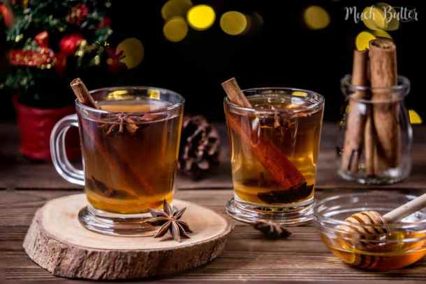 Honey cinnamon star anise tea is suitable for cold months. The fragrant from the spices will fill the room when you make it. It is a halal version of mulled wine, which the original recipe uses red wine.