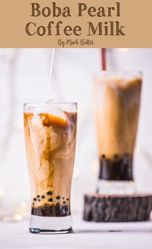 Are you a coffee lover? Do you want drink coffee milk with chewy texture in it? You can trying this recipe at home. Try this simple boba pearl coffee milk, which is consist of coffee, milk, palm sugar syrup, and boba pearls in it.