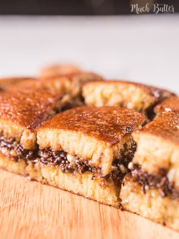 Chocolate peanut martabak is one of the most famous street foods from Indonesia. It's rich with butter, decadent and sweet night snack.