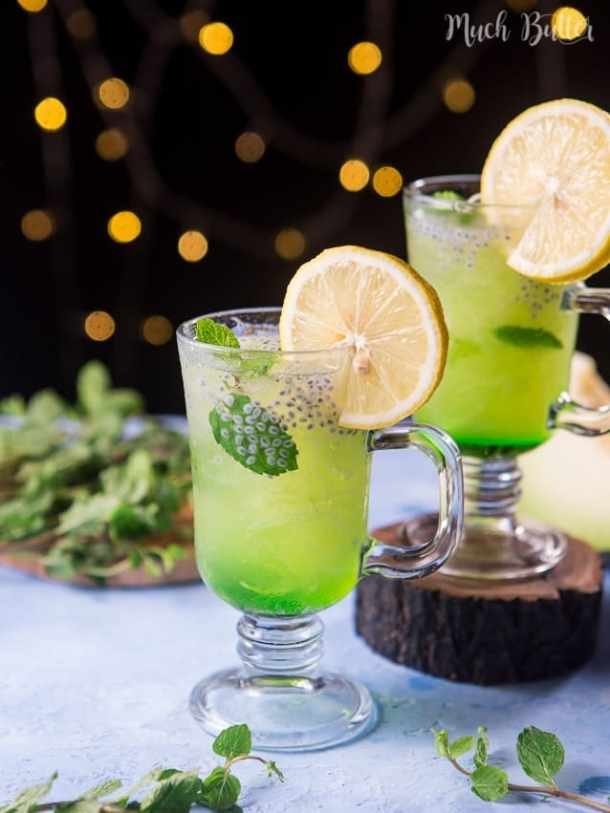 Melon lemonade punch is sweet, sour and refreshing drink. Shredded melon give it unique and surprising texture to the drink.
