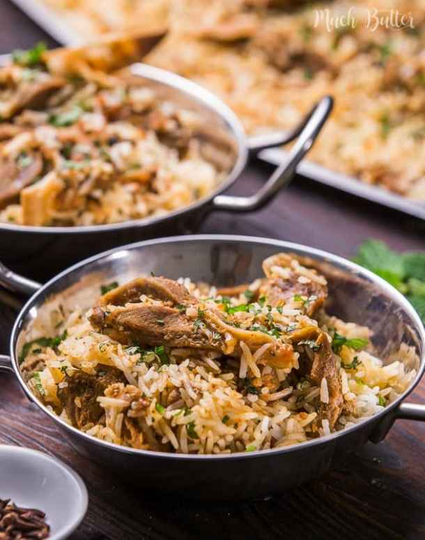 Pressure cooked mutton biryani is a delicious Indian dish made from mutton meat, spices, and biryani rice in a quick way. Perfect for family dishes!