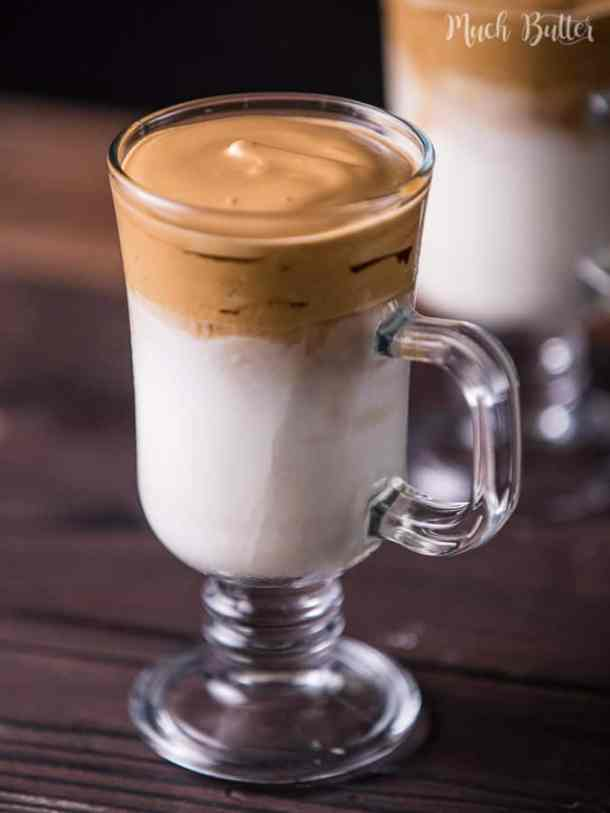 Dalgona coffee is a viral frosty coffee from South Korea. It's like reversed cappuccino because we use milk as the base then add whipped coffee on the top.