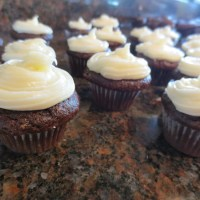 Mini Chocolate Cupcakes with Cream Cheese Frosting {gluten-free}