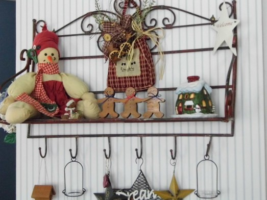 Shelf in the Kitchen - A little different then the fall pictures - Just change out a few things