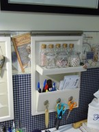 This was also part of the organizing - another purchase from Pottery barn. Holds some of the beads I use often.