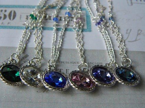 Swarovski crystal birthstone necklace to see go to ~ https://www.etsy.com/listing/201390444/swarovski-birthstone-crystal-necklace