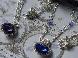 ~ Close up of swarovski crystal birthstone necklace ~