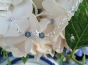 ~ My newest addition to my shop ~ sweet sterling silver rose with swarovski crystals on either side. ~