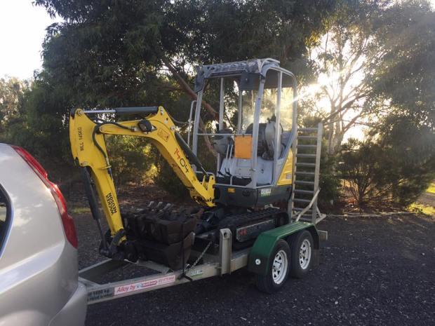 Driveway project - digging holes