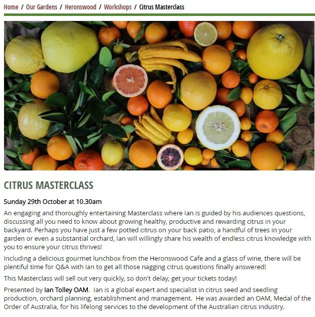 Citrus masterclass
