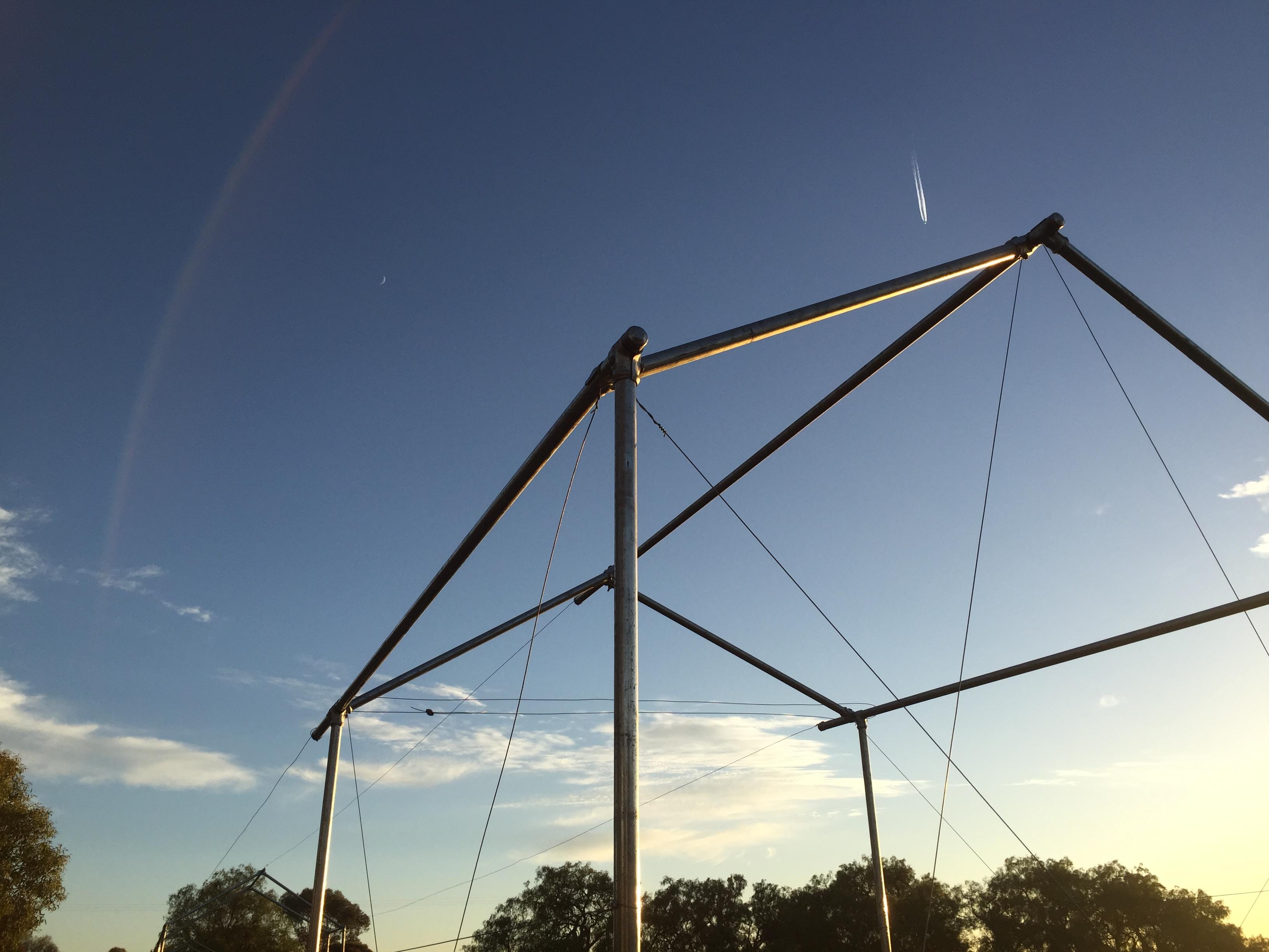 Net frame anchored morning