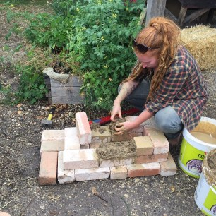 Clare starting to build the jet stove