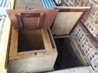 Lay boxes and chooks' entrance