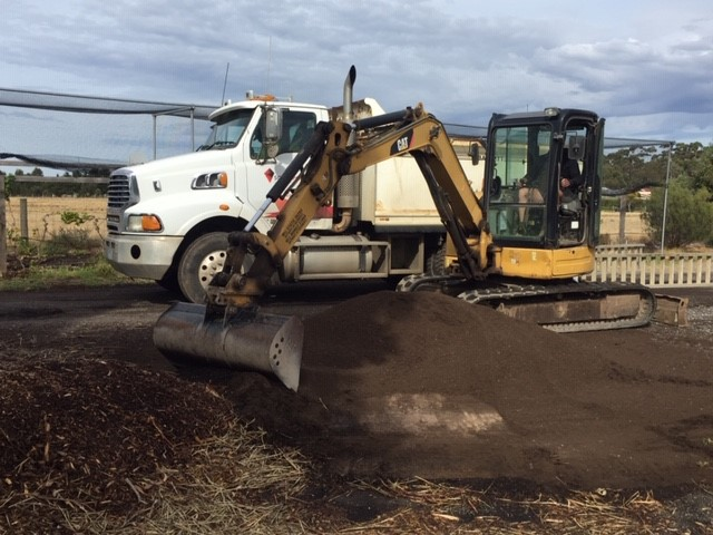 Compost – removing at Homeland