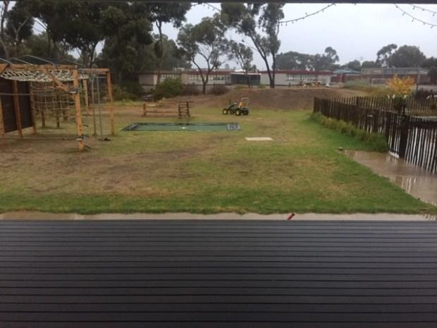 Rain - backyard
