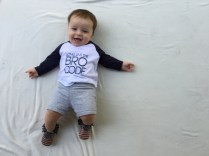 loving his new bro code tee from mama said tees