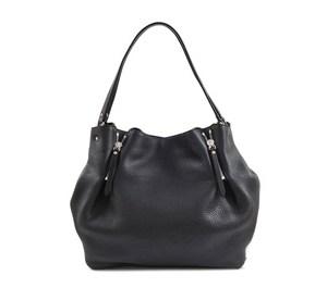 Burberry Maidstone Black Full Grain Leather Medium Hobo Bag