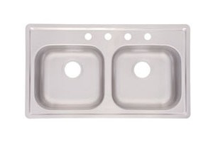 Kindred FMSB654NB Double Bowl Stainless Steel Top-mount Sink