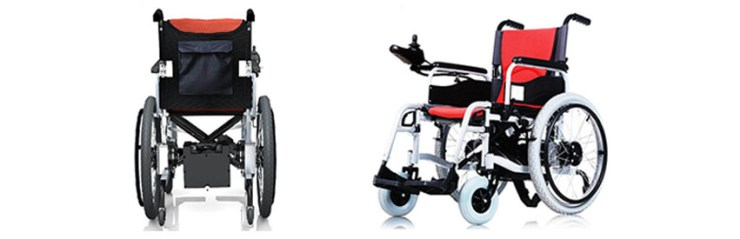 Red electric power wheelchair