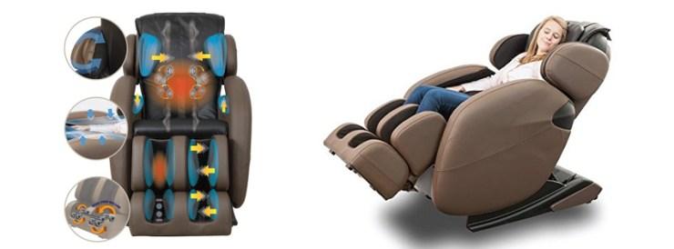Full-Body Zero Gravity Space Saving L-Track Kahuna Massage Chair Recliner