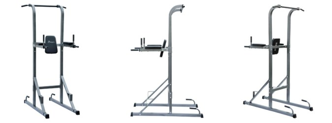 Soozier Fitness Power Tower with Dip Station & Pull Up Bar