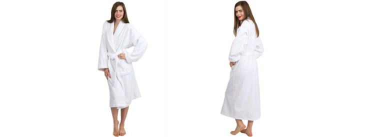 Best TowelSelections Turkish Cotton Bathrobe Shawl Collar Terry