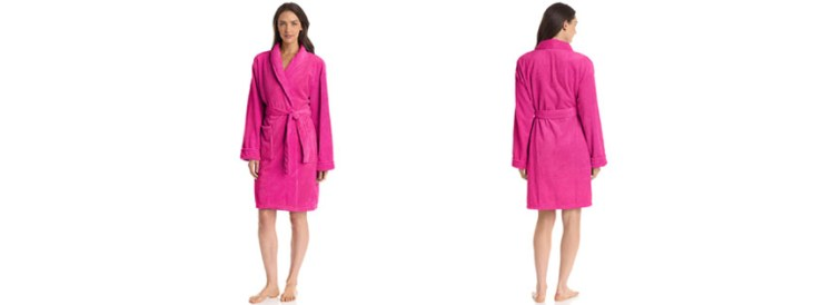 Seven Apparel Hotel Spa Collection Popcorn Jacquard Bath Robe