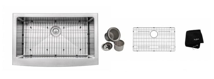Kraus KHF inch Farmhouse Apron Single Bowl gauge Stainless Steel Kitchen Sink