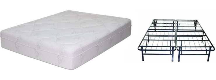 Memory Foam Mattress Bed frame Set No box spring needed King