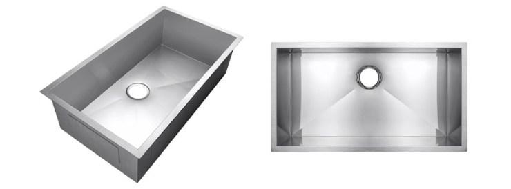 Golden Vantage Single Basin Bowl Undermount Handmade Gauge Stainless Steel Kitchen Sink